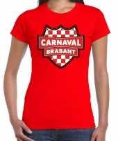 Brabant carnavalskledingshirt rood dames