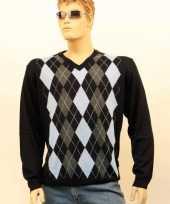 Carnavalskleding kwaliteit heren pullover blue