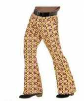 Gekleurde hippie heren broek xxl carnavalskleding