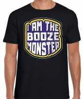 Halloween drankmonster booze monster horror shirt zwart heren carnavalskleding