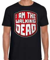 Halloween walking dead horror shirt zwart heren carnavalskleding
