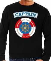 Kapitein capt ain carnavalskleding trui zwart heren