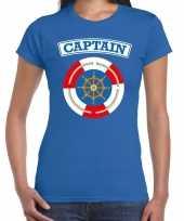 Kapitein captain carnavalskleding shirt blauw dames