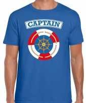Kapitein captain carnavalskleding shirt blauw heren