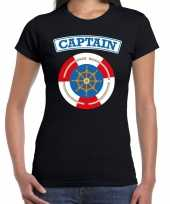 Kapitein captain carnavalskleding shirt zwart dames