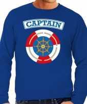 Kapitein captain carnavalskleding trui blauw heren