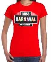 Natural beauty miss carnavalskleding shirt rood dames