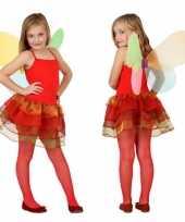 Rode vlinder carnavalskleding kind