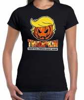 Trumpkin make halloween great again horror shirt zwart dames carnavalskleding