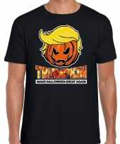 Trumpkin make halloween great again horror shirt zwart heren carnavalskleding