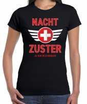 Verpleegster carnavalskleding shirt nacht zuster uur beschikbaar zwart dames