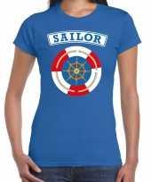 Zeeman sailor carnavalskleding shirt blauw dames