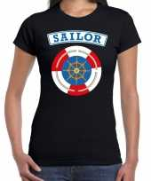 Zeeman sailor carnavalskleding shirt zwart dames