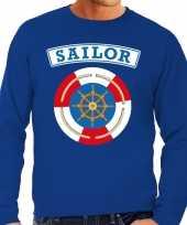 Zeeman sailor carnavalskleding trui blauw heren
